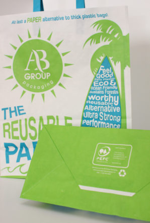 AB Group launches PEFC certified reusable 'heavyweight' paper bag at Packaging Innovations 2017
