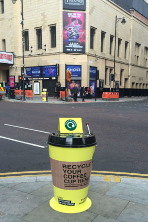 Coffee cups saved from landfill come back to life to make Manchester's gardens greener