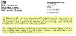"""GPMA receives """"confidence-building"""" response from Government in call for disaster relief fund for UK print industry"""