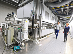 New coating plant for adhesive materials enters partial service