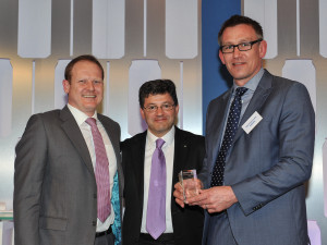 L-R: James Timperon, global key account manager, Henkel Adhesive Technologies; Graham Chipchase, chief executive of Rexam PLC; Mark Sowerby, European sales manager - metal packaging, Henkel Adhesive Technologies