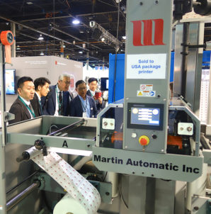 Martin sells new space-saving splicer at Labelexpo Americas