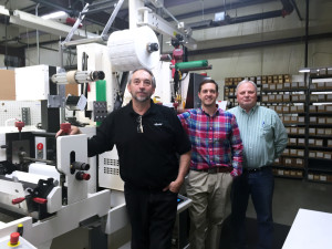 L-R: Lead operator Tim Blevens, vice president Brian Beam, and production manager Stan Berger