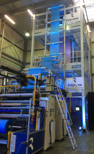POLYREMA mono blown film line shown at the Open House
