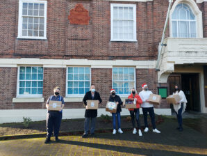 Packaging giant donates 'Hampers for Heroes' over Christmas